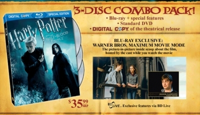 Фильмы & TV > Harry Potter & the Half-Blood Prince (2009) > DVD Covers