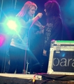 Paramore: Pier Pressure, Gothenburg, Sweden (performing Misery Business with a fan) - paramore photo