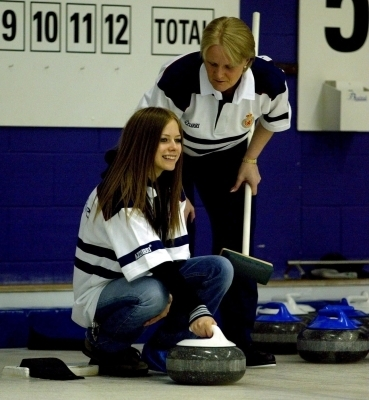 Playing Curling in Glasgow 2003