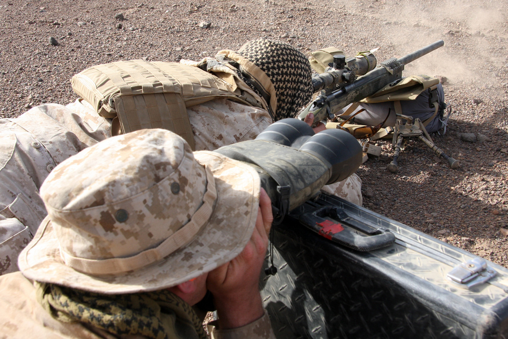 Marine Corps Images Scoutsniper Team Observes A Target Area Hd