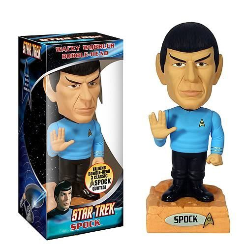 звезда Trek Spock Talking Bobble Head
