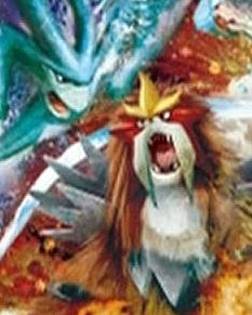 maalamat pokemon wolpeyper called Suicune & Entei