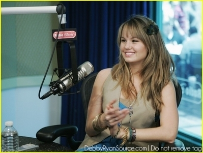 Debby Ryan karatasi la kupamba ukuta titled Taking Over Radio Disney(June 1,2010)