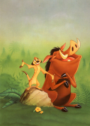 The Lion King kertas dinding called Timon & Pumbaa