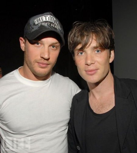 Tom Hardy & Cillian Murphy just before the start of filming Inception
