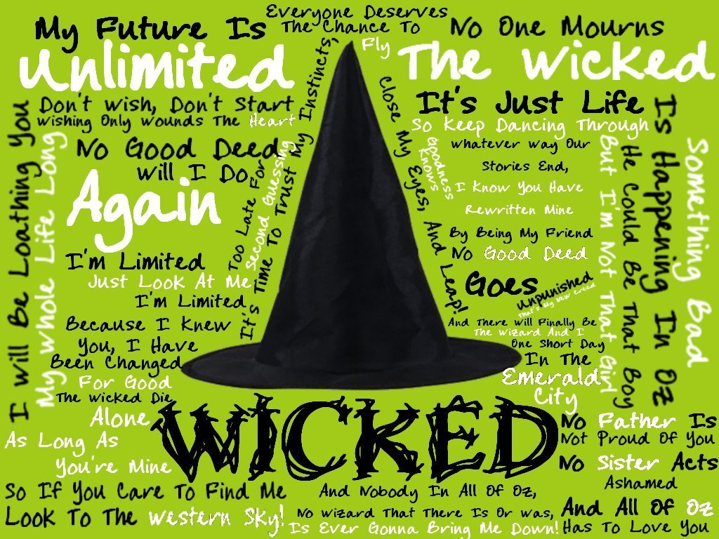 wicked lyrics wallpaper wicked fan art 13102068 fanpop