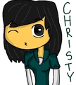 christy ( the girl vesion of chriss) - total-drama-island fan art