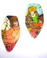 modern shaggy and velma earrings