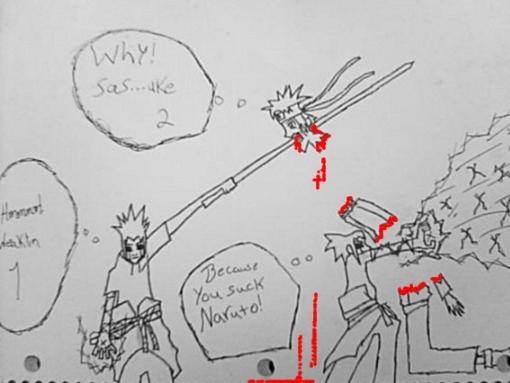 sasuke vs Naruto final battle - Naruto Shippuuden Foto (13199586