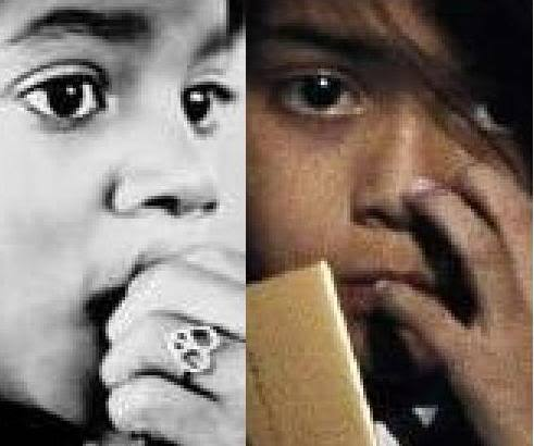 wow! look like twins! thêm proof blanket is mj's bio kid