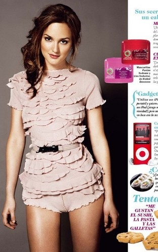 Leighton Meester in the July 2010 issue of Cosmopolitan Spain.