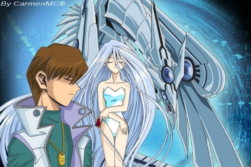 Blue eyes white dragon spirite