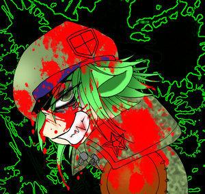 Evil Flippy as a human