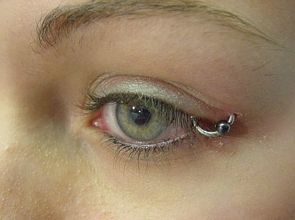 Eyelid Piercing - piercings Photo