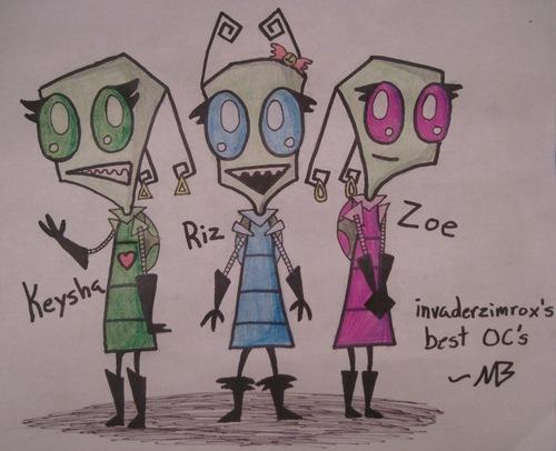 INVADER KEYSHA, RIZ, AND ZOE CONTEST!!!