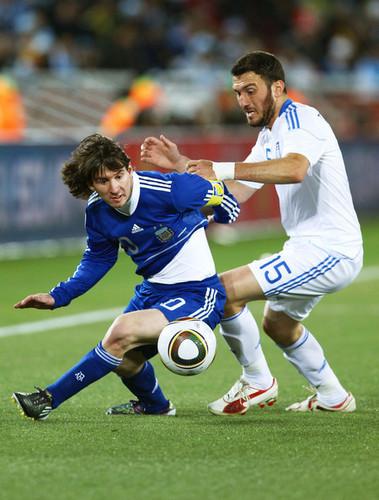 Lionel Andres Messi karatasi la kupamba ukuta entitled Messi - Argentina (2) vs Greece (0)