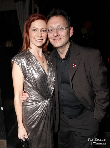Michael Emerson at American Red tumawid Benefit
