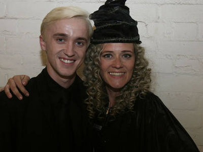 Tom Felton پیپر وال entitled فلمیں & TV > Harry Potter & the Deathly Hallows (Pt. I & II) (2010/2011) > Behind the scenes