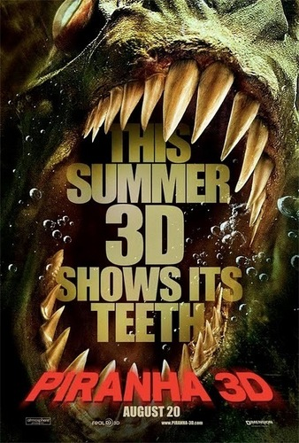 Film horror wallpaper entitled Piranha 3D Poster