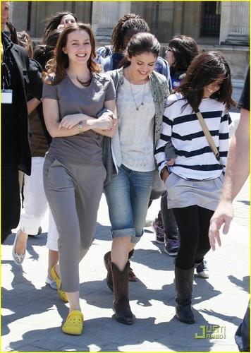 "Selena on set ""Monte Carlo' in Paris (June 22)."