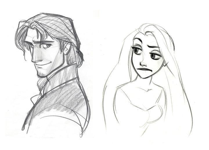 Desenhos!!! - Página 3 Tangled-Concept-Art-disney-princess-13234356-720-515
