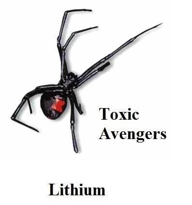 Toxic Avengers - Album Cover - Lithium