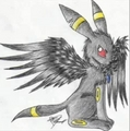 Winged Umbreon - umbreon fan art