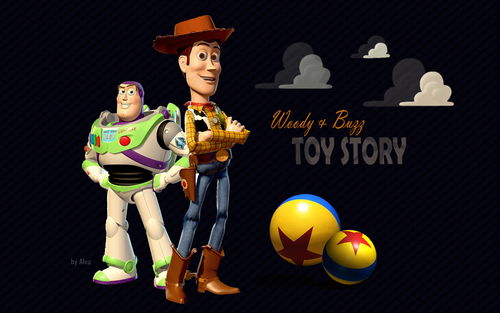 Toy Story Hintergrund called Woody & Buzz
