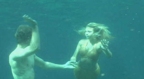 bella and will underwater