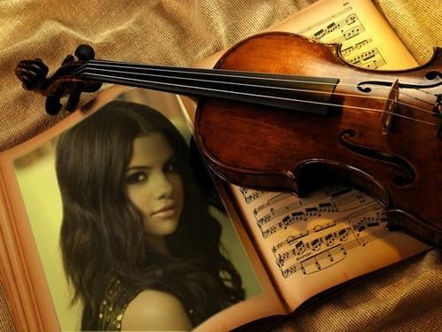 selena and violin