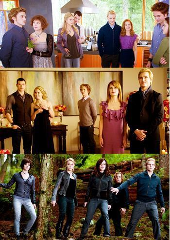 the cullens- twilight,new moon, eclipse