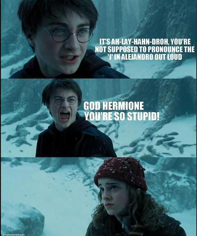 """God, Hermione, you're so stupid!"""