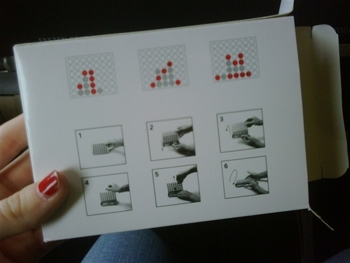 """""""My Connect Four Travel Game For The Flight..."""""""