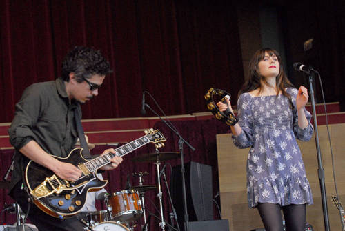 She & Him at Chicago's Millennium Park- 7th June