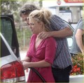 Britney&Jason @ Gas Station in Brentwood