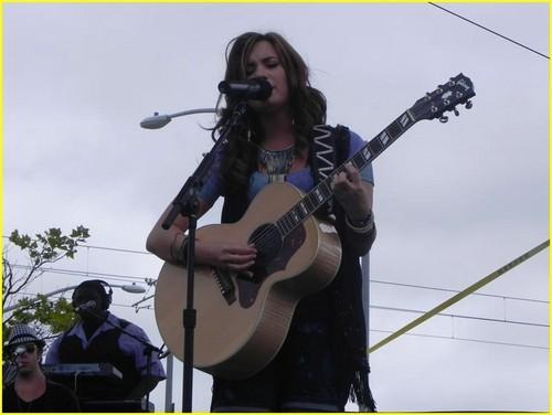 Demi performing in San Diego,California