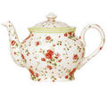 Flower Print Tea Pot - tea photo