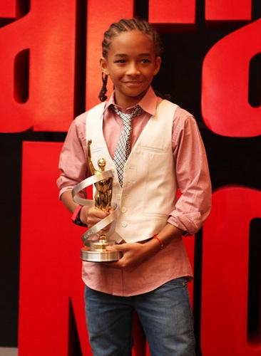 Jaden With Award