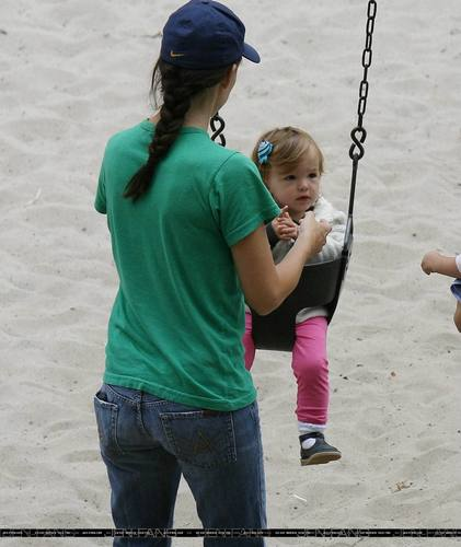Jen and Ben Having Fun With Seraphina and Violet!