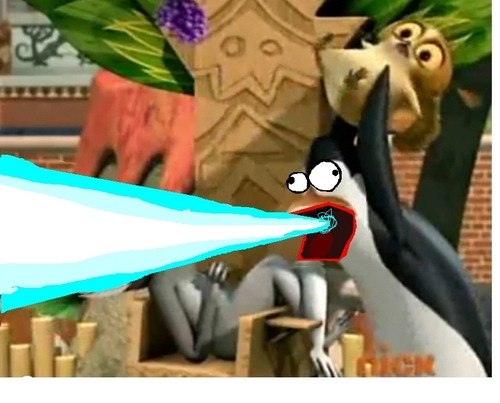 Kowalski is FIRING HIS LAZOR!