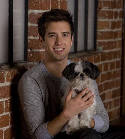 Logan w/ Carlos' dog Bandit