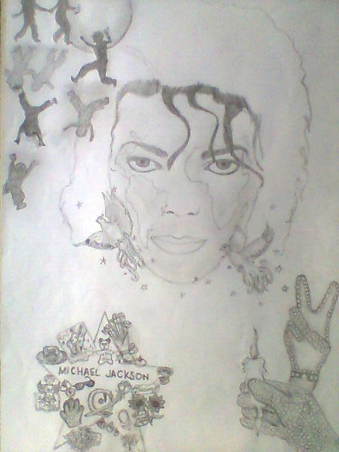 Michael Jackson Drawing :) <3 (I havnt completed it yet, When its finished im happy to share) <3