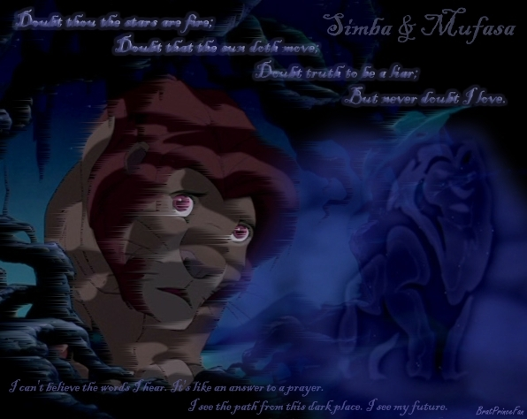 Mufasa & Simba - Never Doubt I Love - The Lion King Fan Art ...