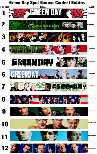 New Green Day Spot Banner Contest