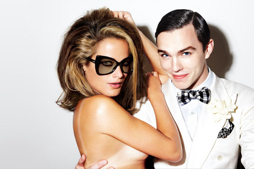 Николас Холт Обои entitled Nicholas Hoult and Carolyn Murphy: Tom Ford Eyewear