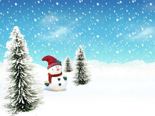 Winter wallpaper titled Snowman