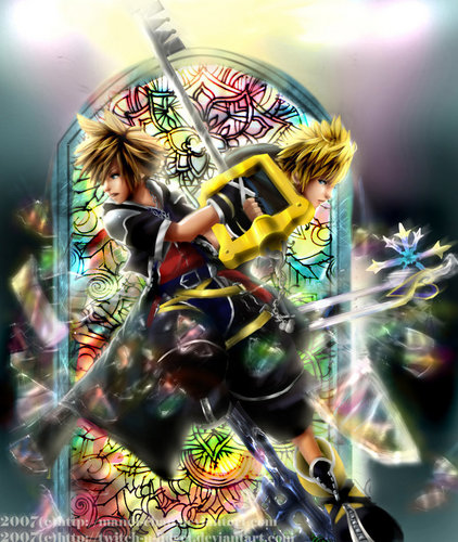 Kingdom Hearts wallpaper entitled Sora and Roxas