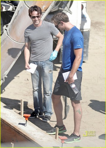 "Stephen&Alexander on set of ""True Blood"""