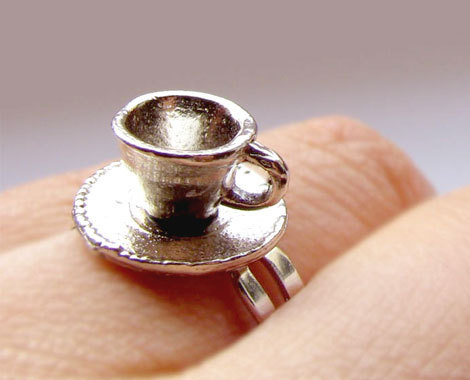 Tea Cup ring - tea Fan Art