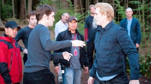 behind the scenesss - twilight-series Photo